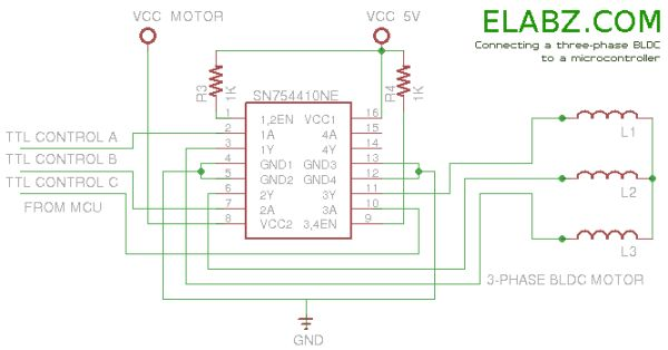 Brushless DC (BLDC) motor with Arduino – Part 2. Circuit and Software Schematic