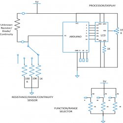 DIY Arduino Based Ohmmeter Schematic