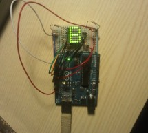 Drawing on a 7×5 LED matrix with Arduino in C