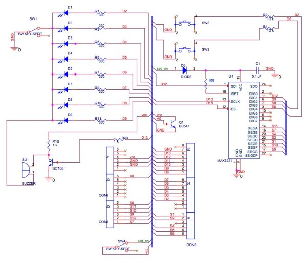 General Purpose Input Output Arduino Shield Schematic