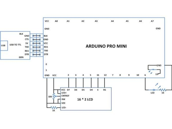 Generate Random Number using Arduino Schematic