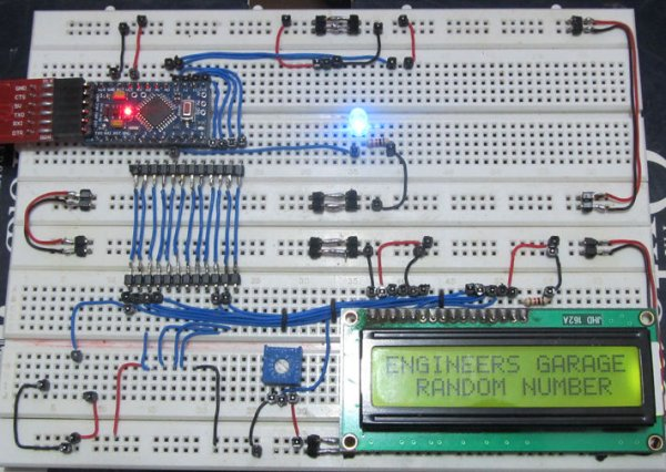 Generate Random Number using Arduino