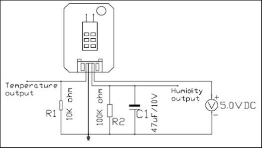 HSM-20G Interface with Arduino Uno Schematic