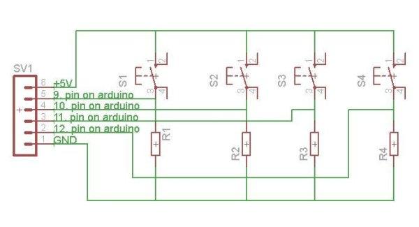 hard disk clock (hdd clock with arduino uno) schematic