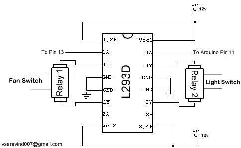 Home Automation Using Arduino & Autohotkey Schematic