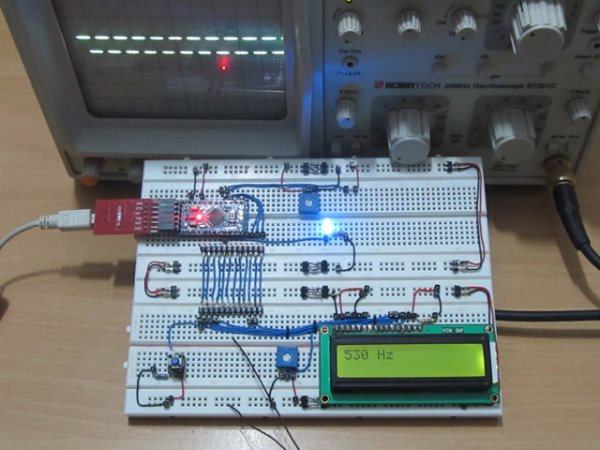 How To Make a Simple Variable Frequency Generator Using Arduino schematic