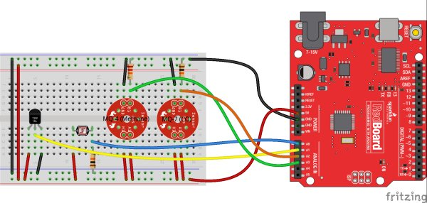 Internet Datalogging With Arduino and XBee WiFi Schematic