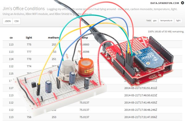 Internet Datalogging With Arduino and XBee WiFi