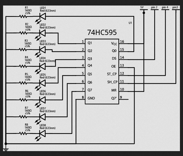 Lab 8 Shift Register and Binary Schematic