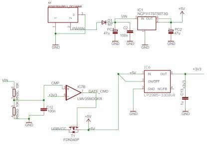 Modifying an Arduino Mega and chipKIT Max32 for 5V Operation Schematic