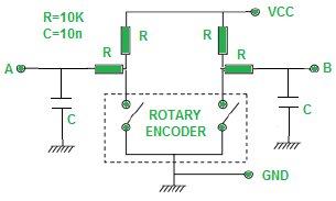 Rotary Encoder & Arduino Schematic