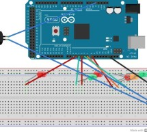Traffic light and pedestrian crossing implemented with an Arduino