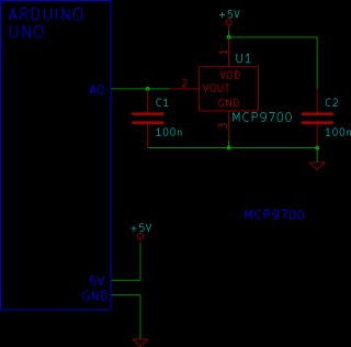 Tutorial 15 Arduino Serial Thermometer Schematic