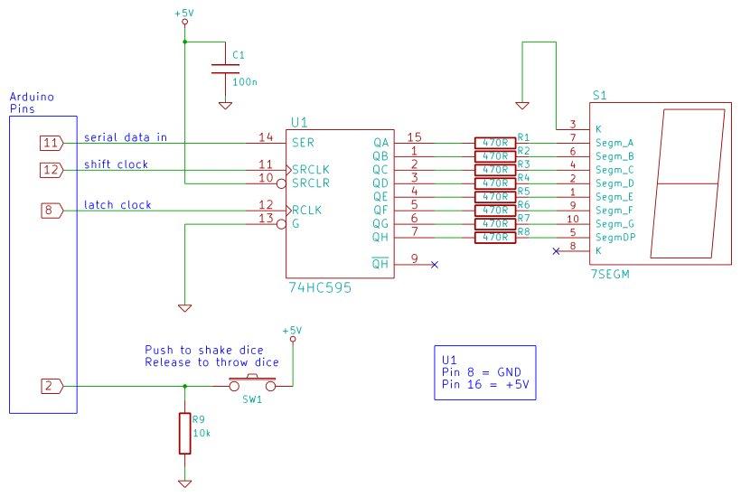 Tutorial 19 Arduino Dice Schematic