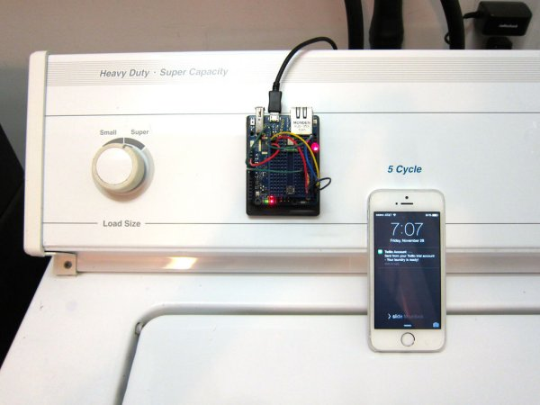 Washer Dryer Laundry Alarm using Arudino & SMS Text Messaging Alerts