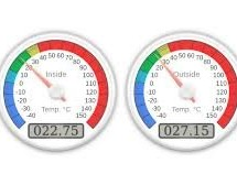 Web Server with Two Temperature Gauges