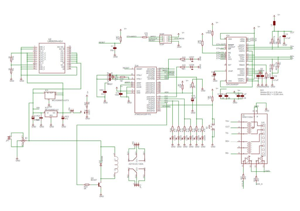 Webserver for home appliances control Schematic