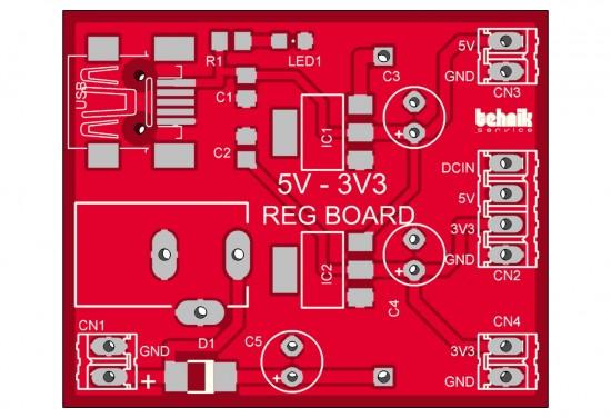 5V – 3.3V REG BOARD