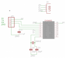 CH340G – alternative USB to serial IC