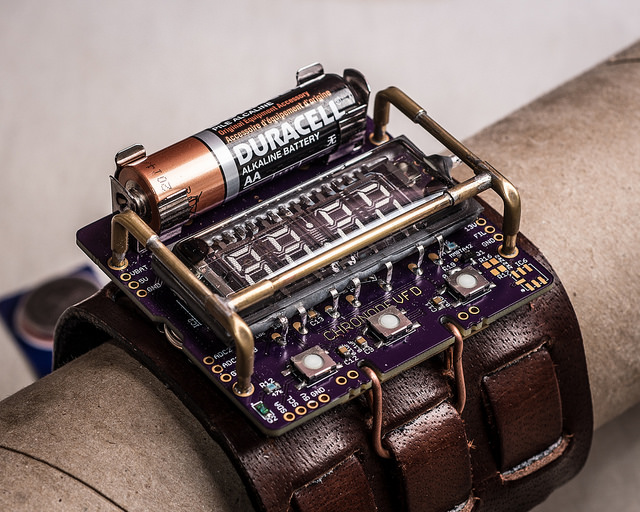 ChronodeVFD A Cyberpunk Wristwatch