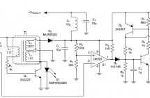 Flyback switcher works down to 1.1V, flashes HBLEDs