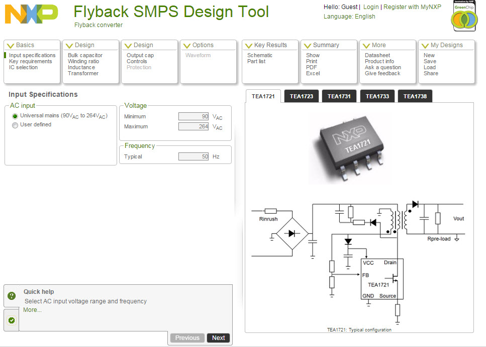 Flyback SMPS Design Tool