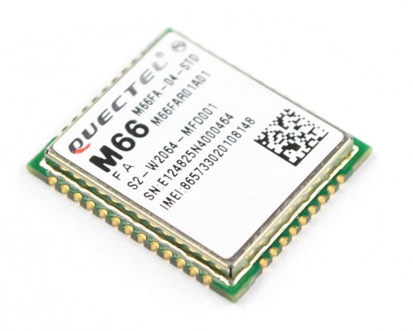 GSM/GPRS module Quectel M66 is proud to be small and that it has a Bluetooth