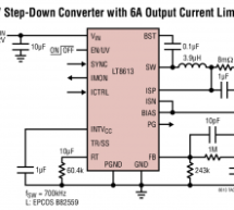 LT8613 – 42V, 6A Synchronous Step-Down Regulator with Current Sense and 3μA Quiescent Current
