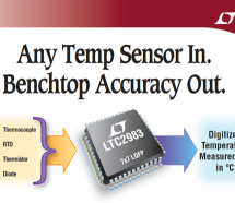 LTC2983 – Multi-Sensor High Accuracy Digital Temperature Measurement System