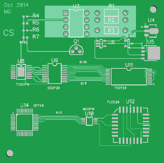 Quick-Turn PCB shop review project: Step 1 the PCB