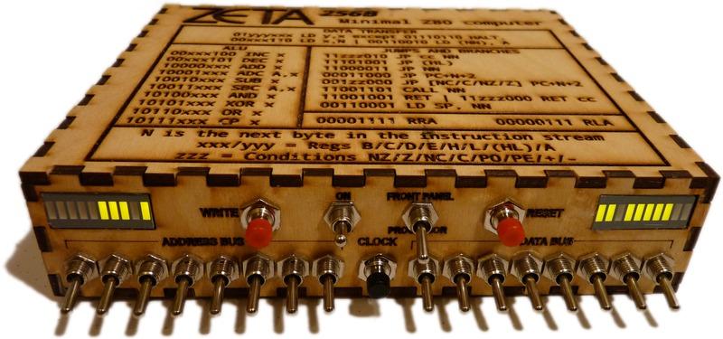 The Zeta minimal Z80 toggle-switch computer