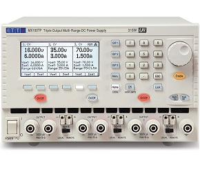 Triple output lab power supply offers paralleling & tracking