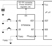 Using the STM6600, STM6601 smart push-button on/off controller