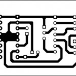 Actual-size PCB layout of the circuit