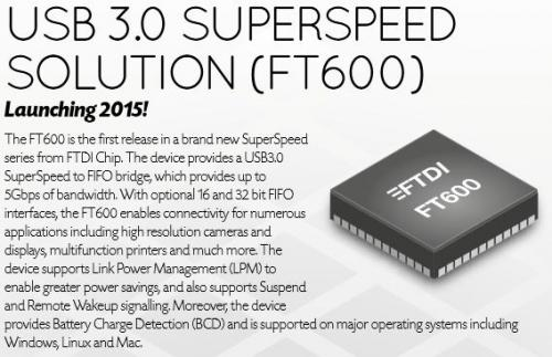 FT60x series - SuperSpeed USB3.0
