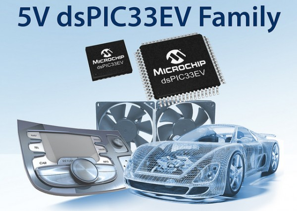 "New 5V dsPIC33 ""EV"" Family for Enhanced Noise Immunity and Robustness in Harsh Environments"