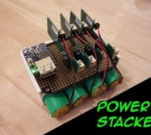 Power Stacker: Stackable USB Rechargeable Battery System