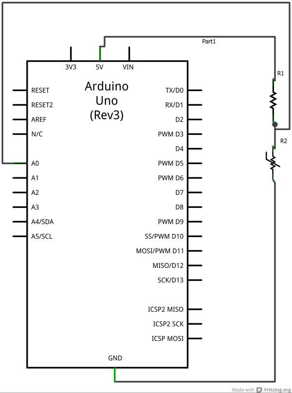 Temperature Sensing with Arduino Scxhematic