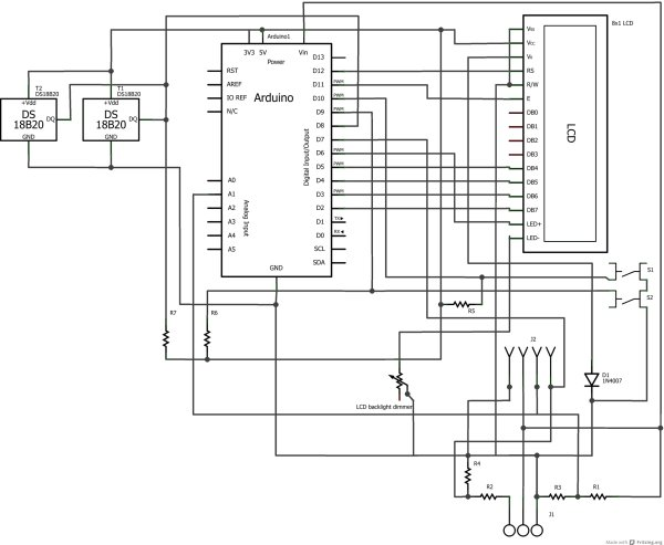Arduino car LCD display Schematic