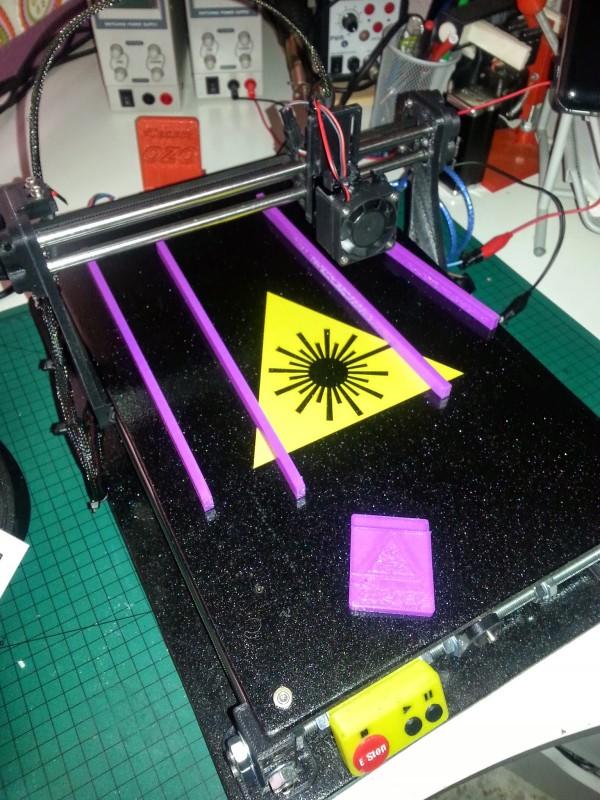 3dpBurner. An Open Source 3D printed laser cutter/engraver.
