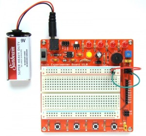 Basic Experimenter Board for easy prototyping of electronic circuits
