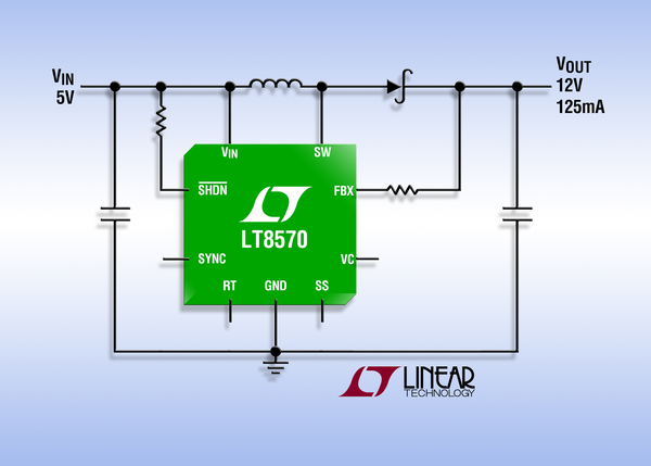 Converter with 65V Switch, Soft-Start and Synchronization