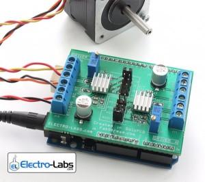 DIY Dual Stepper Motor Driver Shield for Arduino