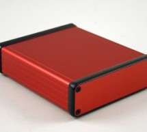 HAMMOND 1455 aluminium enclosures now also in attractive red version