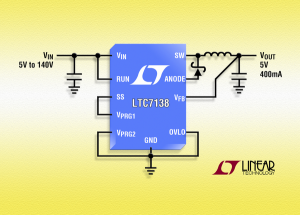 High Efficiency, 140V 400mA Step-Down Regulator