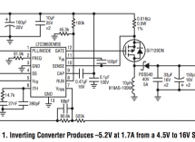 LTC Design Note: Inverting DC/DC controller converts a positive input to a negative output with a single inductor