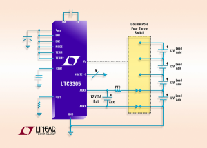 LTC3305 - Lead Acid Battery Balancer