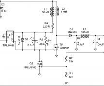 MOSFET-based Joule Thief steps up voltage