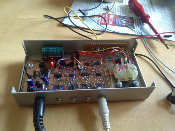 digitally controlled HiFi Amp with 4 way mixer