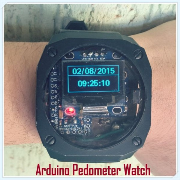 Arduino Pedometer Watch, With Temperature, Altitude and Compass!